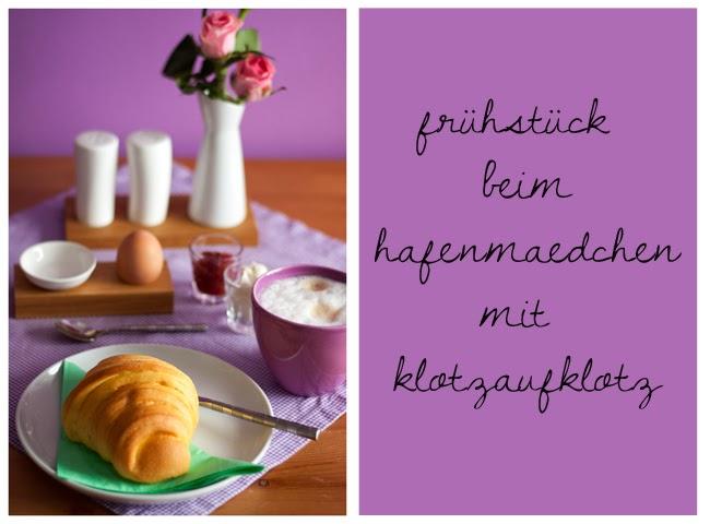 Croissant und Ei
