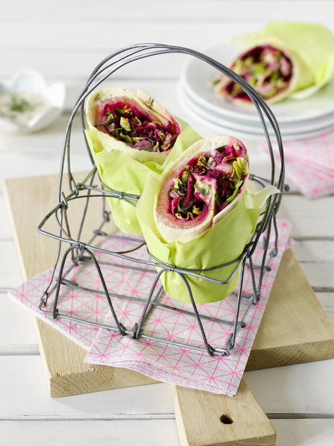 Lachs Spinat Wraps