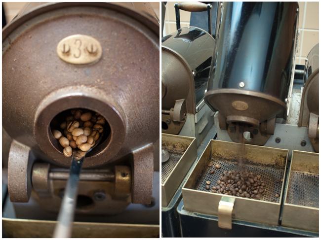 Tchibo-Kaffee roesten