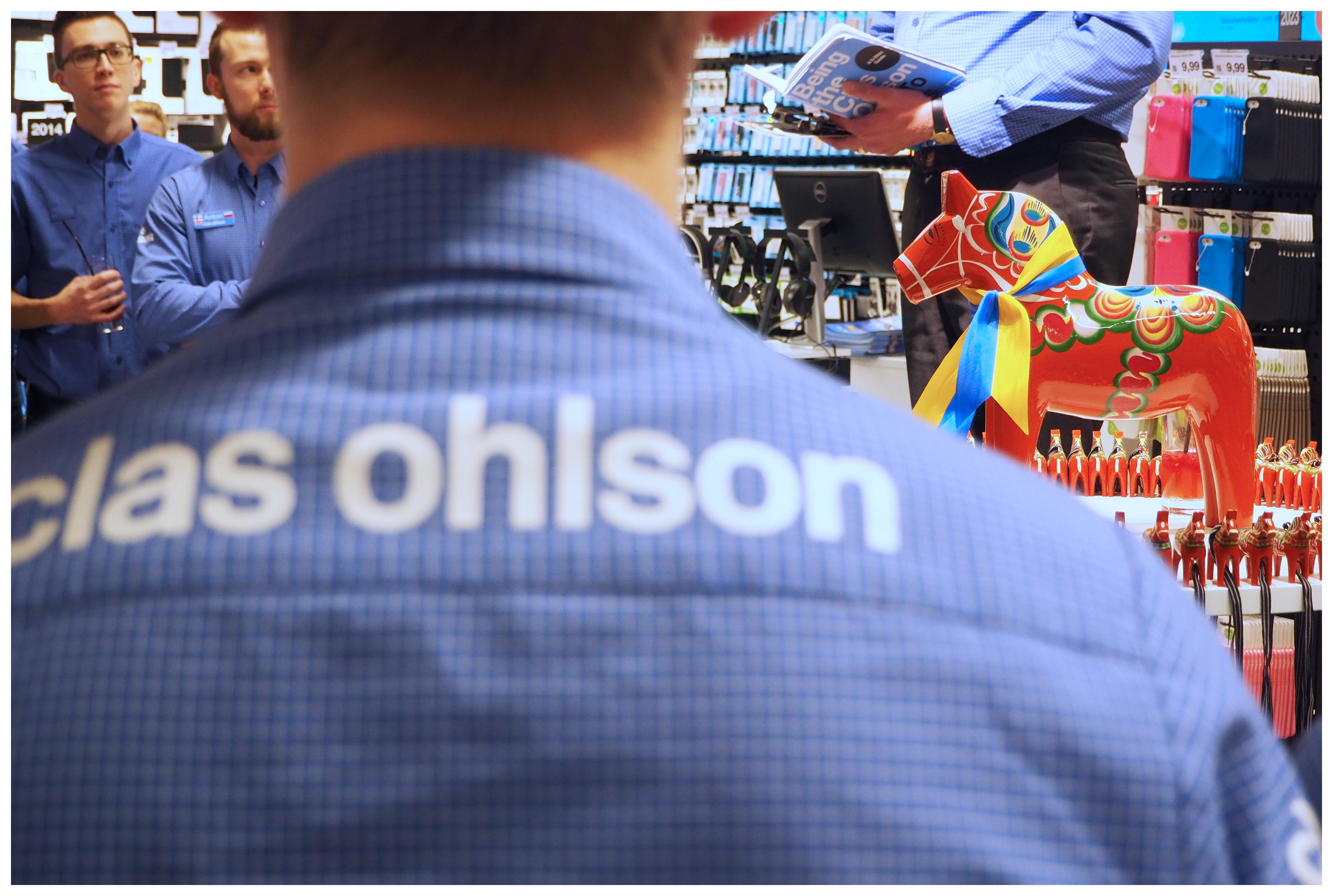 Clas Ohlson Eröffnung im Alstertal - Glücksbringer Dalapferd