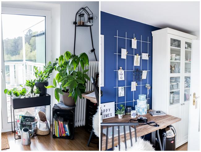 Collage-Buero-Pflanzen-Pinwand