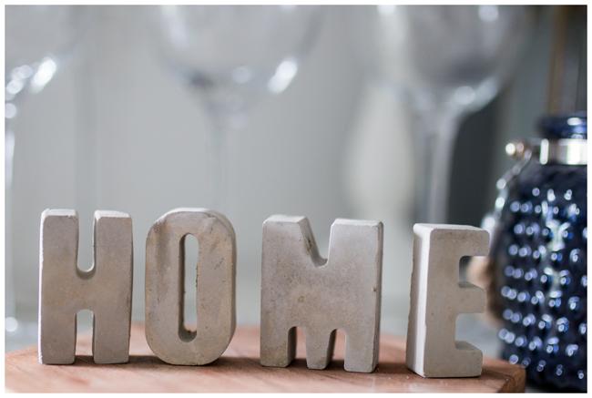 HOME-Betonbuchstaben
