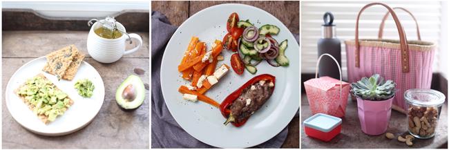 Collage mit Mahlzeiten zur Ernährungsumstellung