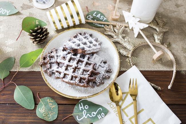 zuckerfreie Weihnachtswaffeln