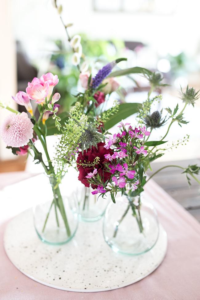 Blumen Bouquet recyceln in Mini-Vasen- Set von Bloomon