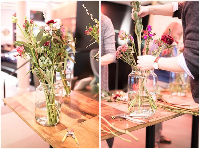 Workshop-Bloomon Bouquet richtig stecken