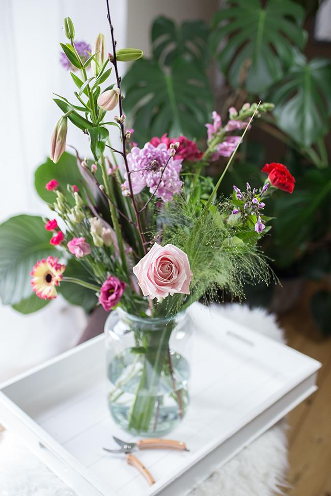 Mein Blumenabo -Bouquet von Bloomon in rosarot