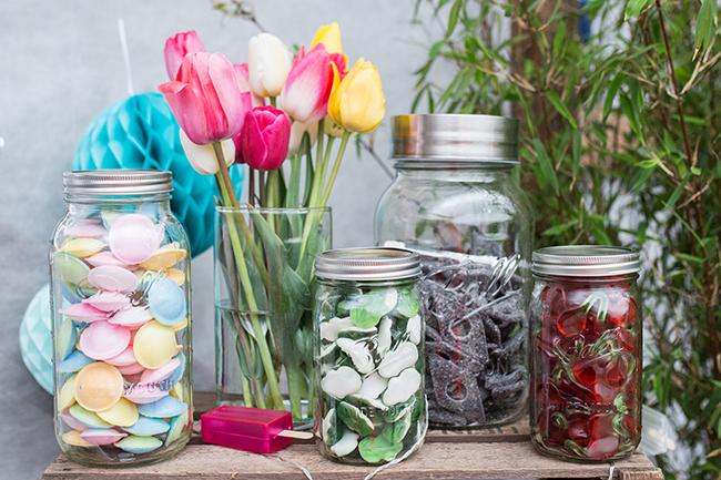 Lieblingsglas Candybar - Ballon Schriftzug Sweets