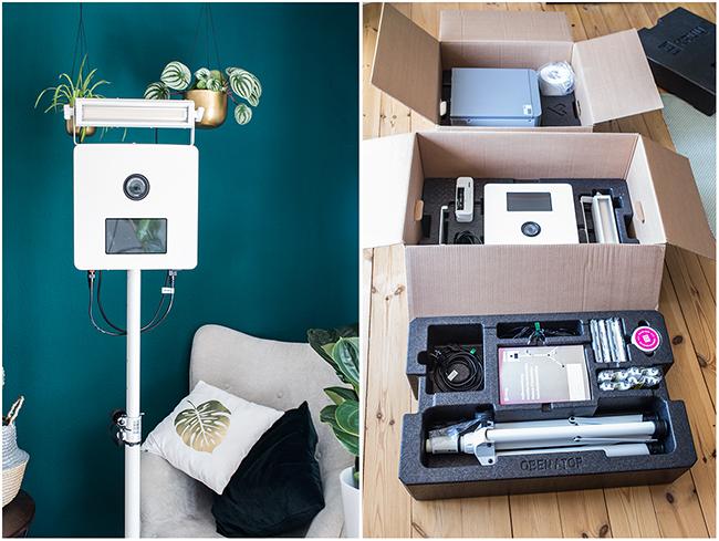 Kruu Fotobox Verpackung in Styropor