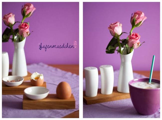 Ei, Salz und Pfeffer und Kaffee
