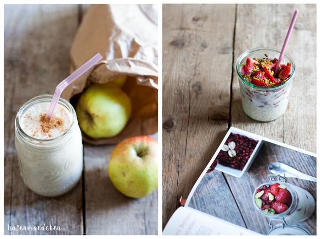 ApfelkuchenSmoothie und Overnight Oats