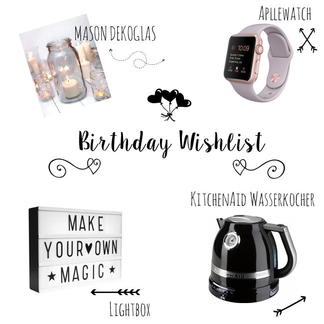 Geburtstags Wunschliste