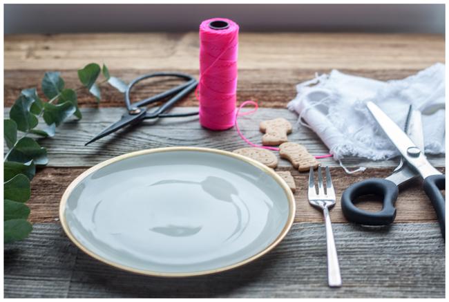 Zutaten- DIY- Tischdeko