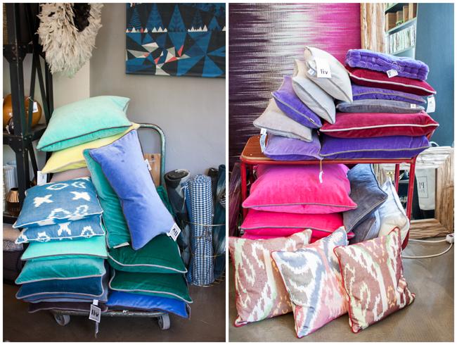 LIV-Interior-Samtkissen - Pink-Blau