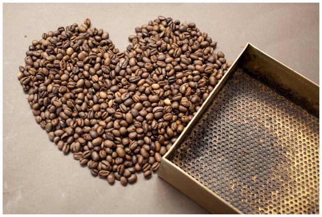 Kaffeebohnenherz