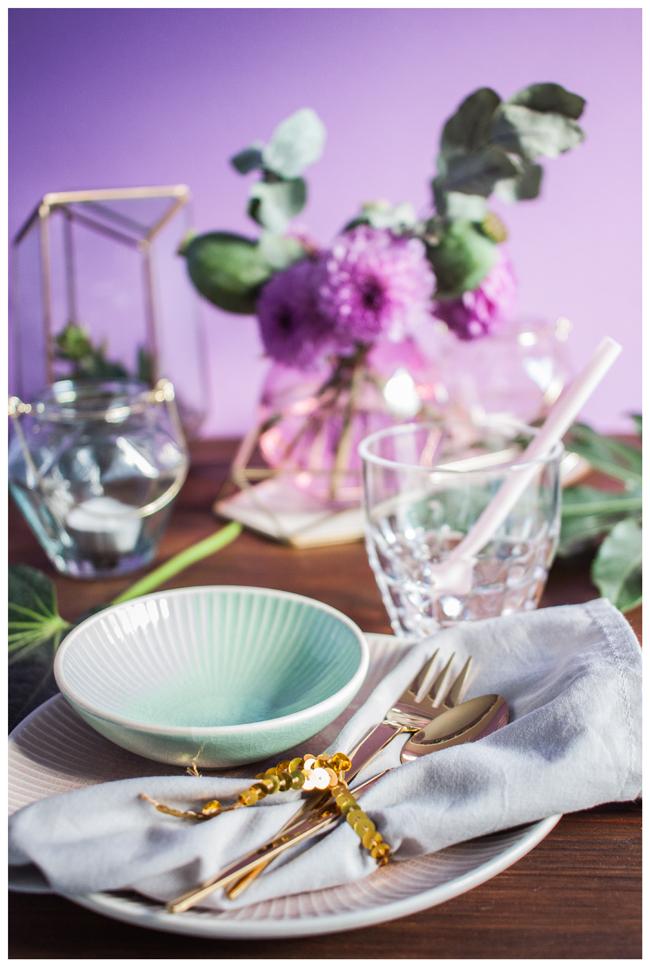 Tischdeko Mint Rosa Gold Hafenmaedchen