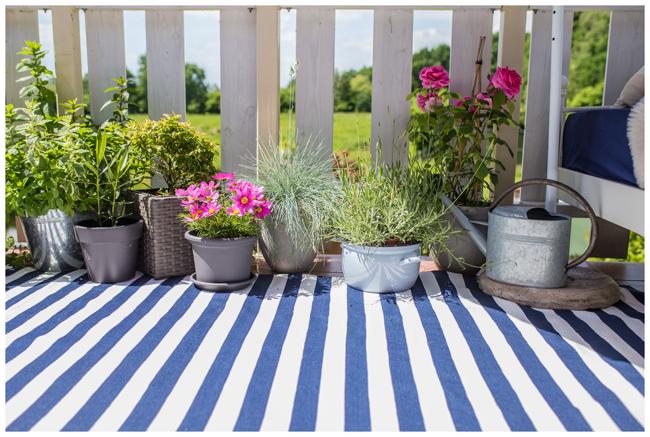 Outdoorteppich-blau-weiß-Pflanzen