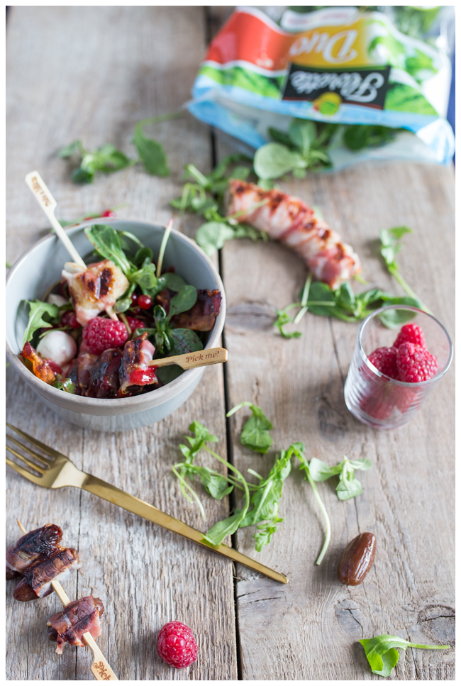 Salatbowl mit Himbeervinaigrette