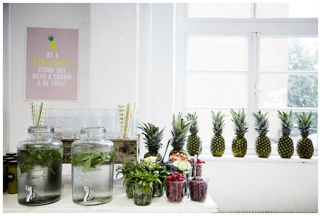 Infused Water Bar - Obst und Gemüse als Zutaten für Infused Water