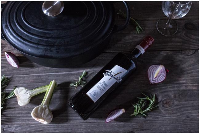 Blanchet Rouge de France Rotwein zu Rehrücken im Bräter