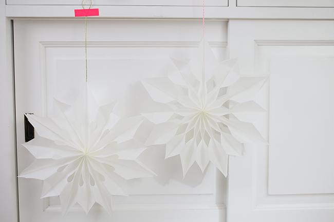 verschiede Muster bei Sternen aus Butterbrottüten