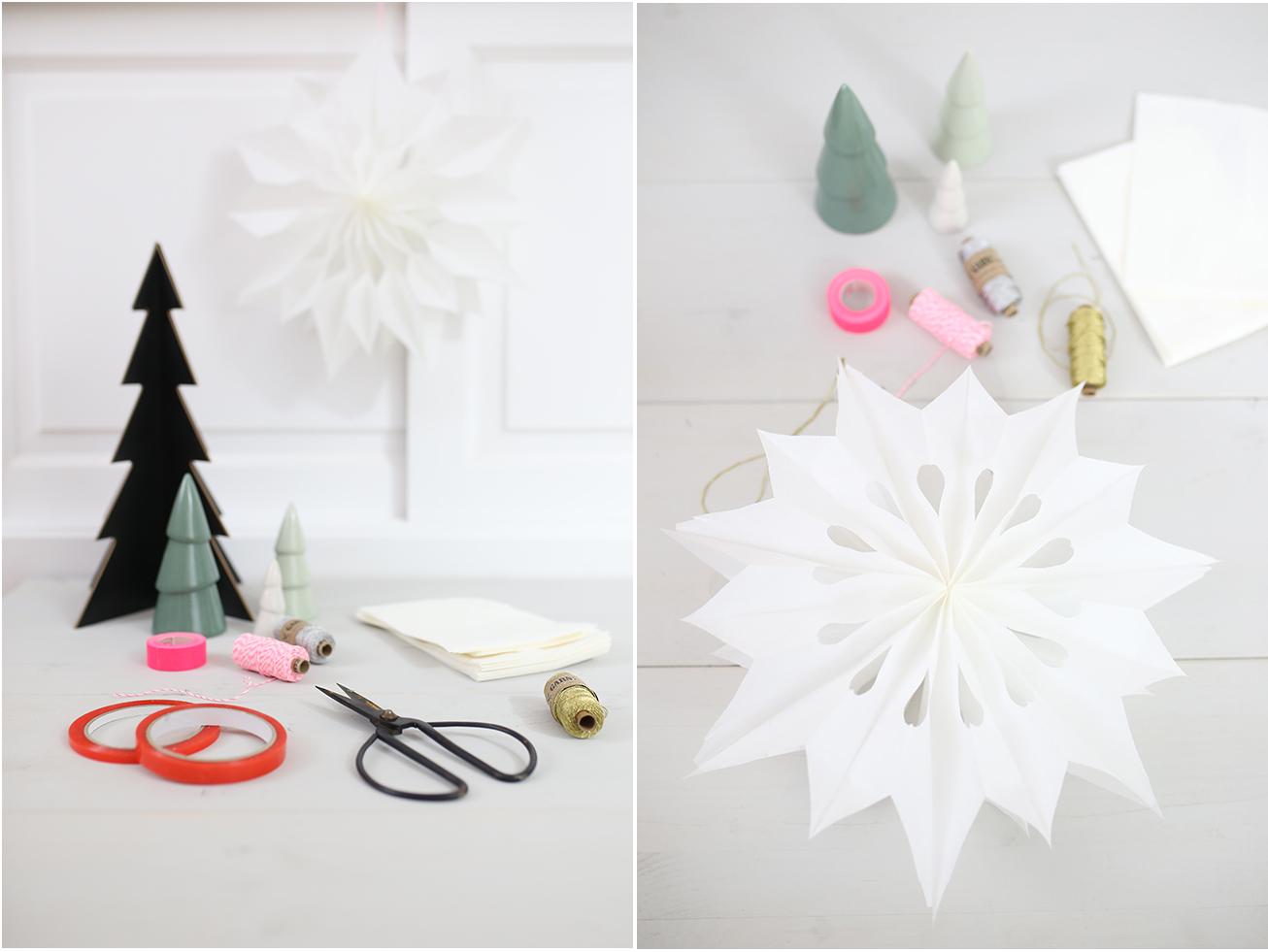 DIY Sterne aus Butterbrottueten - Weihnachtsdekoration