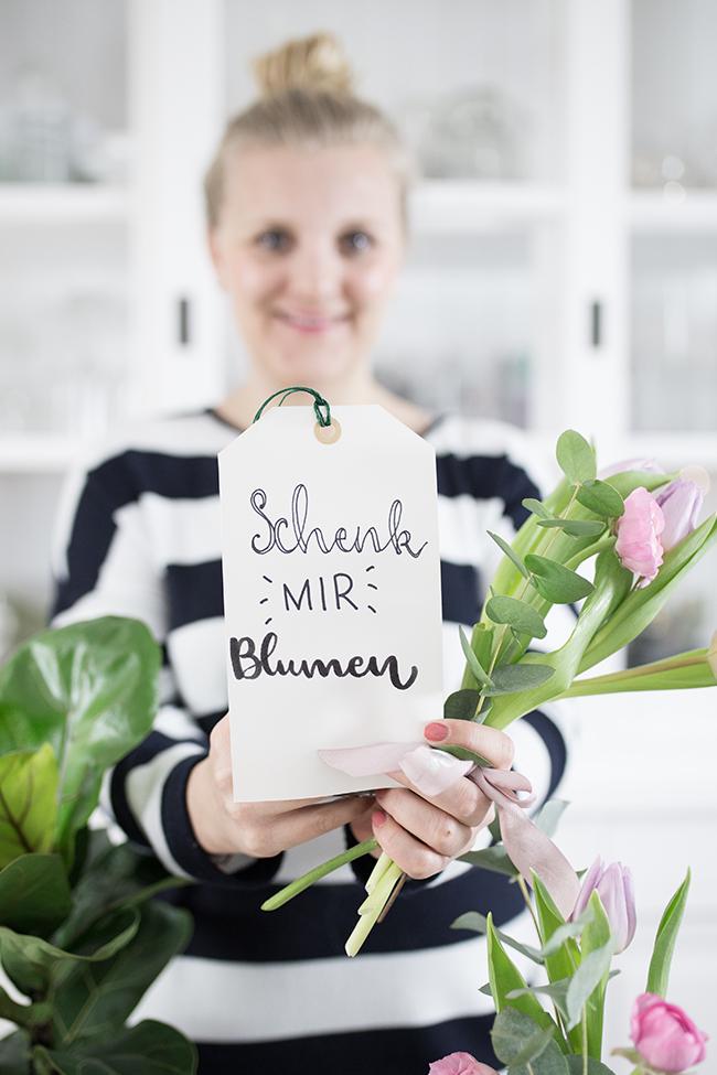 Handletterin Schenk mir Blumen