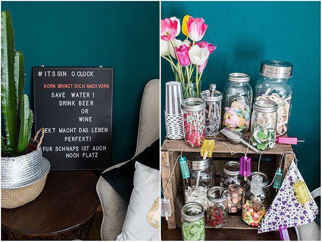 Letterboard als Getränkekarte - Candybar von Lieblingsglas mit Mason Ball Gläsern