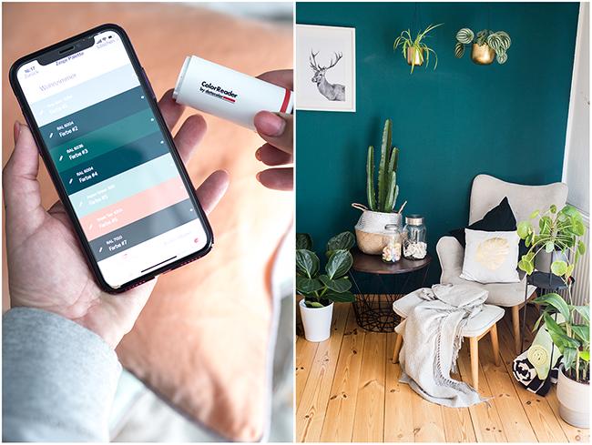 Farbpalette Wohnzimmer in colorReader App