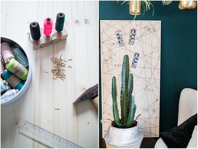 DIY Pinnwand für Fotostreifen aus Fotobox