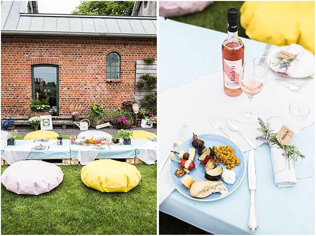 Picknicktafel im Garten aus Palettenmöbeln lidlvielfalt