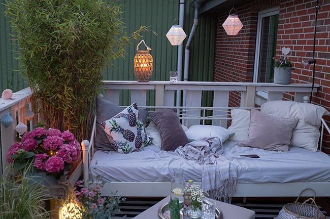 Solar Lampions und LED Glaskugel Sommer für Zu Hause