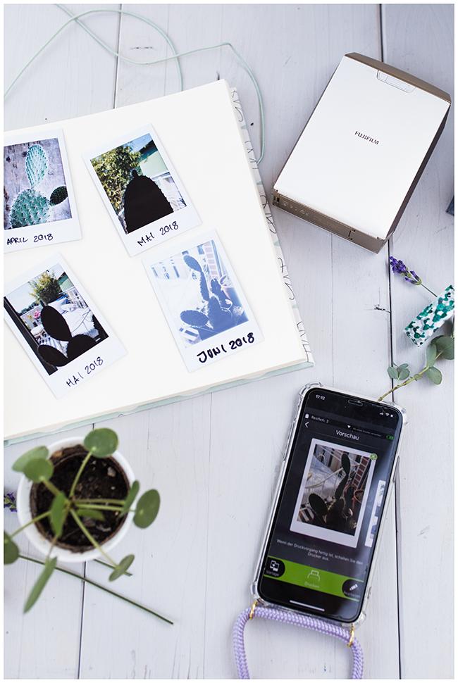 Futjifilm Instax Mini Fotodrucker Fotos für Pflanzentagebuch