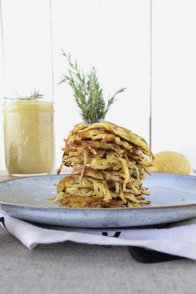 Kartoffelpuffer Rezept auch Reibekuchen genannt