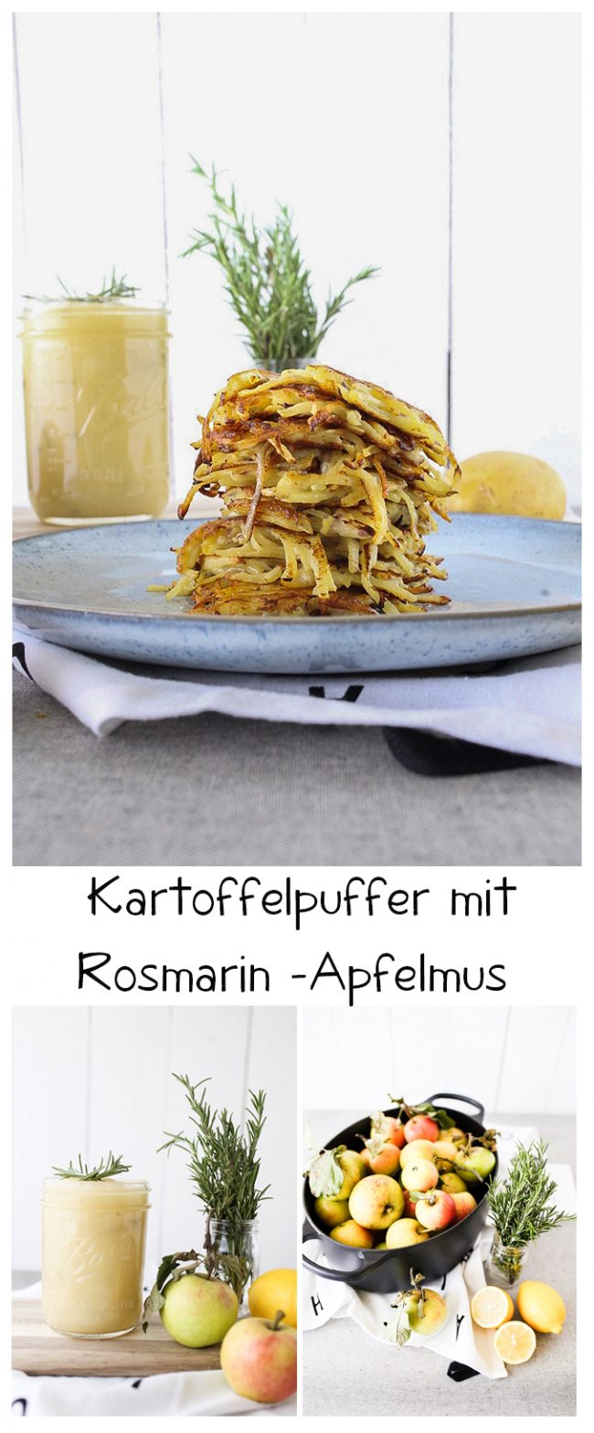 Kartoffelpuffer mit Rosmarin-Apfelmus