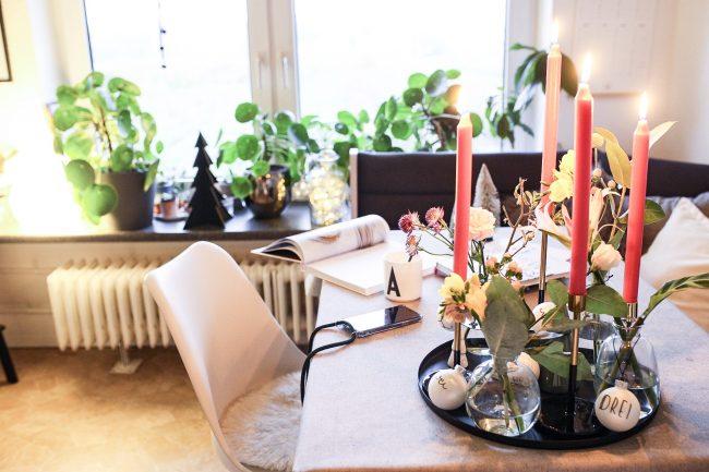 DIY Blumen Adventskranz - Weihnachten in der Küche
