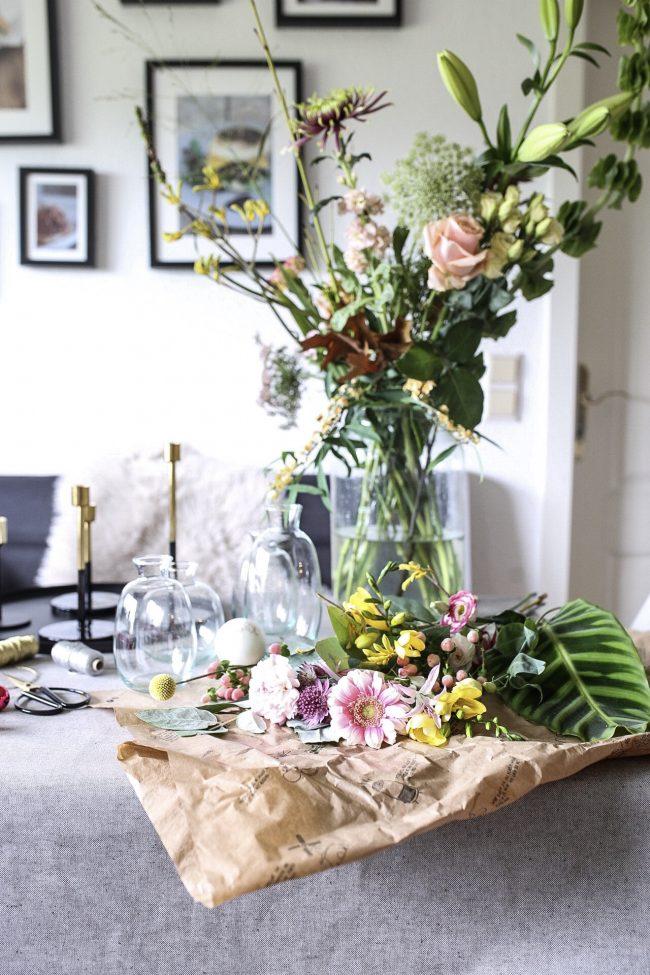 Blumen Adventskranz