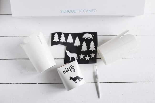 Silhouette Cameo 3 Schneideplotter - DIY Adventskalender Idee