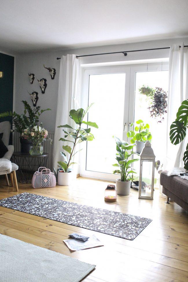 Yoga zu Hause- Yogamatte von OM YA Design Terrazzo