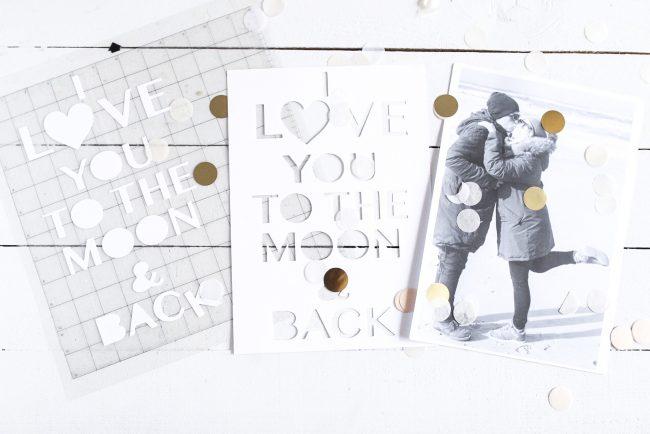Plotter DIY  Valentinestag  - Bilderrahmen für Verliebte