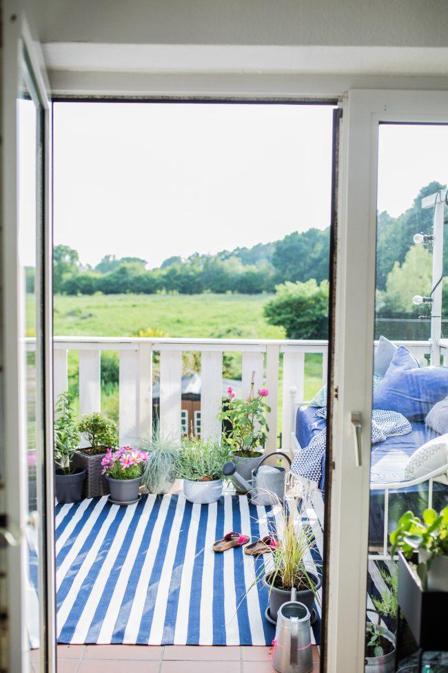 Sommer Balkon Impressionen