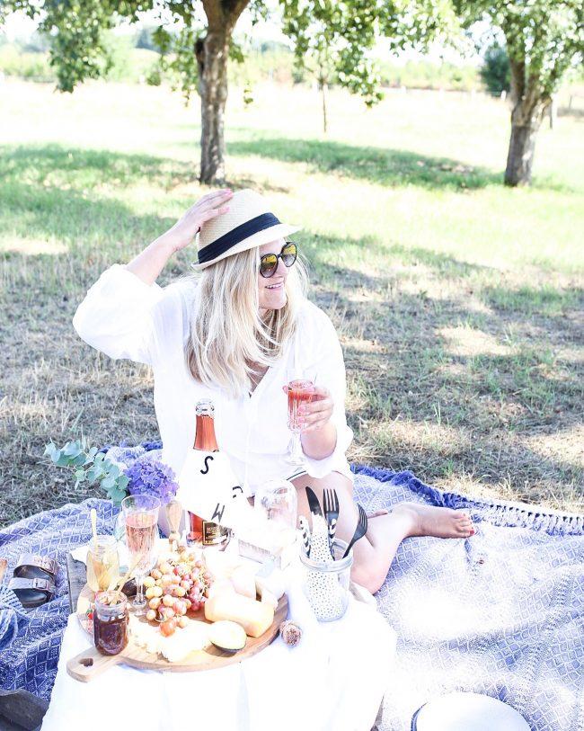 Landleben - Picknick im Apfelgarten