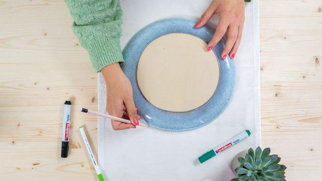 Tischläufer gestalten- kreative Tischdekoration mit edding