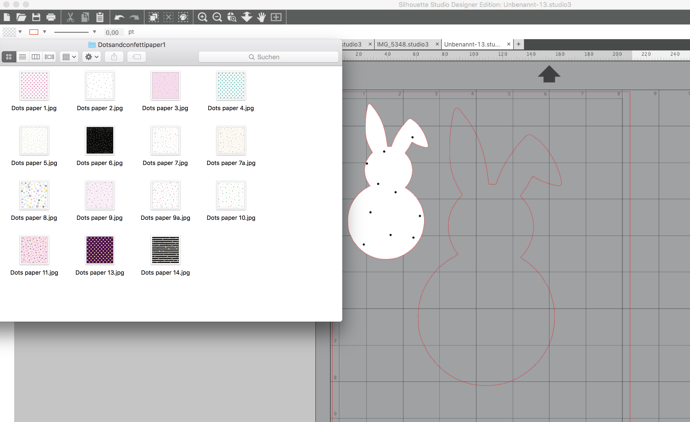 Print and Cut mit dem SILHOUETTE CAMEO - Osterhasen mit Digitalpapier