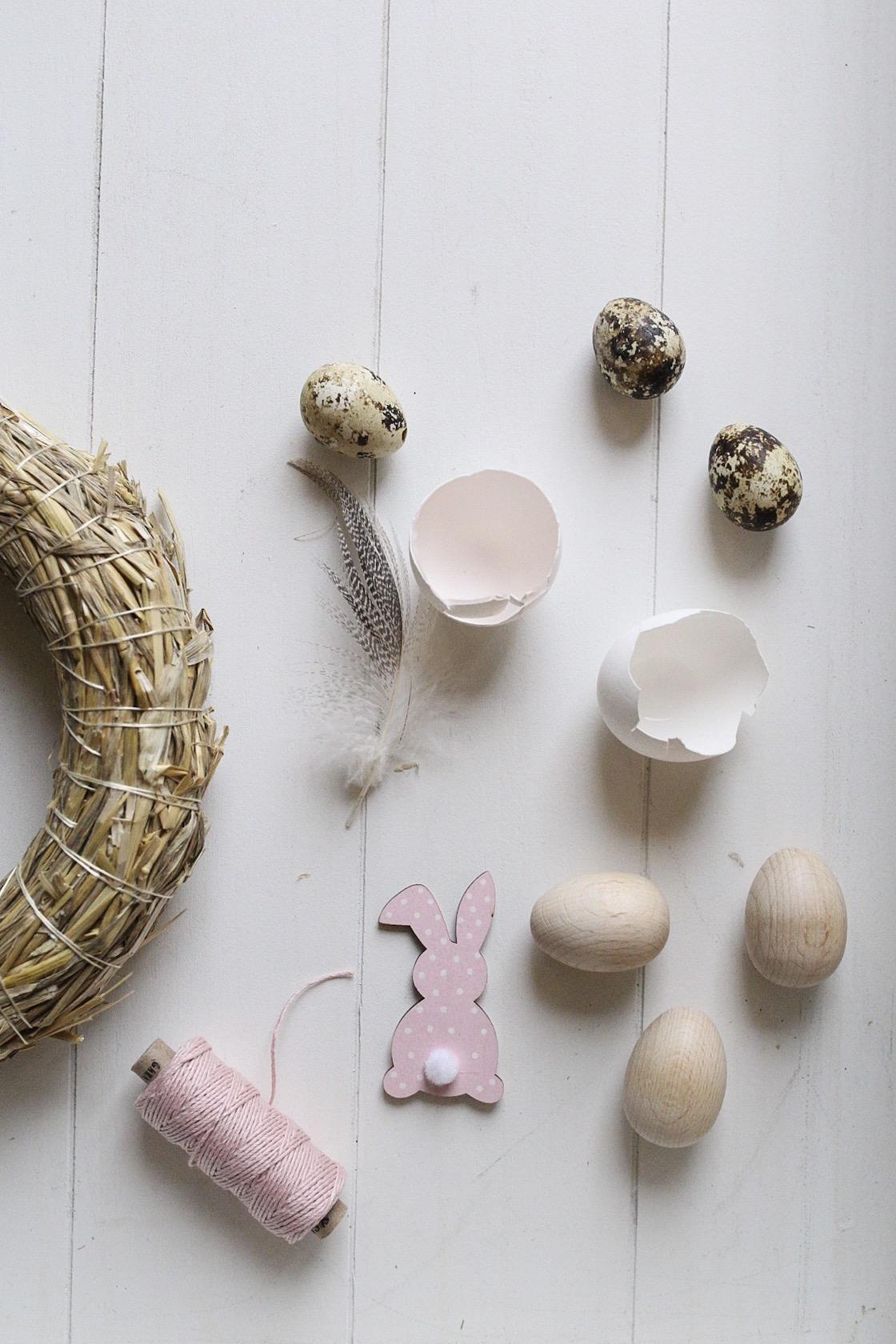 DIY Türkranz Ostern Materialien