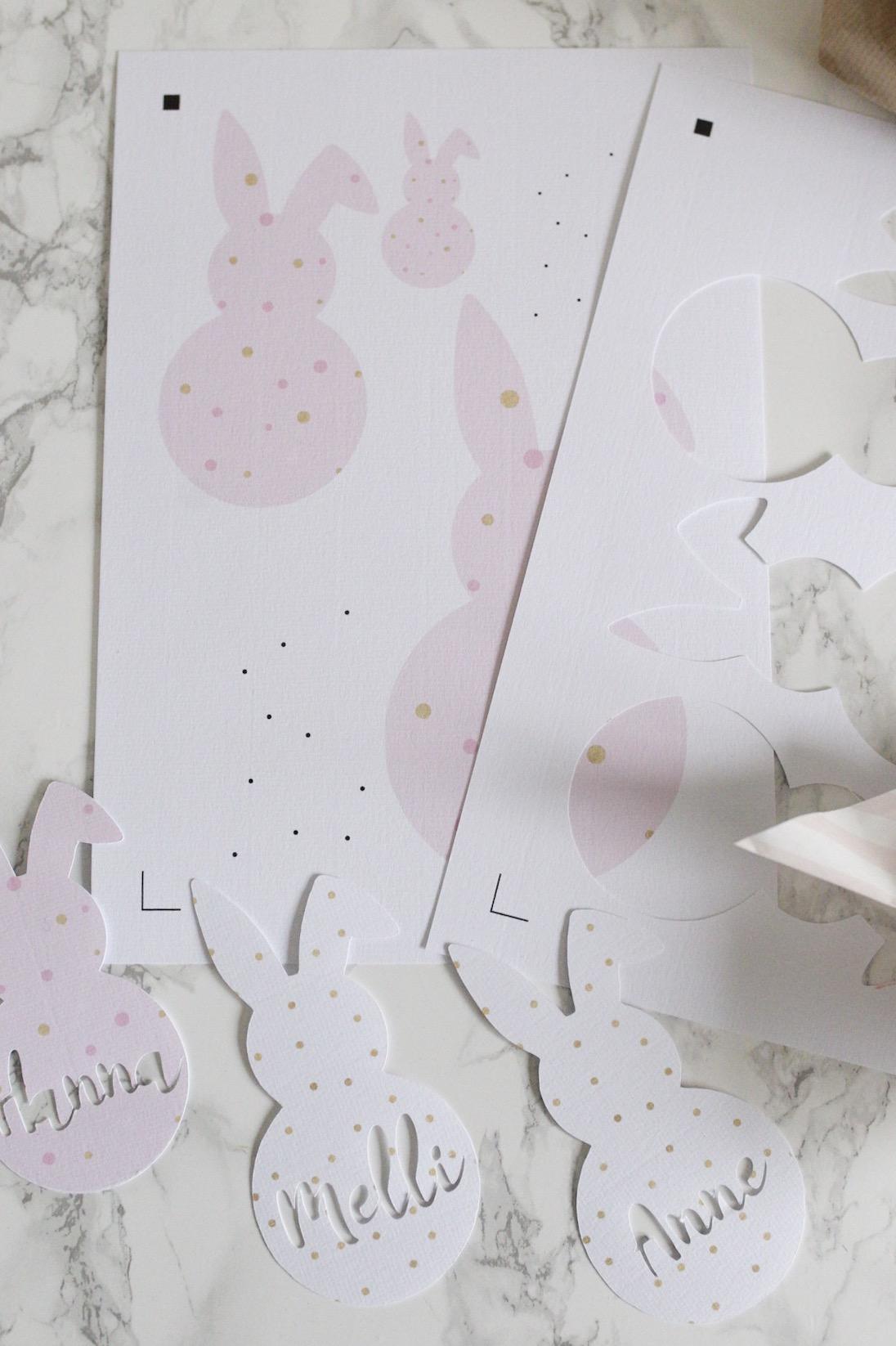 Print and Cut mit dem SILHOUETTE CAMEO 3 - Tischkarten zu Ostern