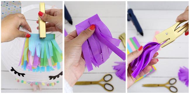 DIY Tassel aus Seidenpapier