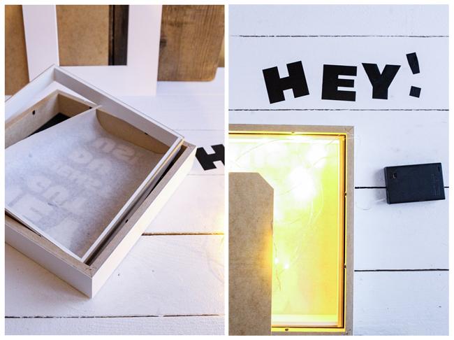 DIY Lightbox zusammenbauen mit Batterie betriebener Lichterkette