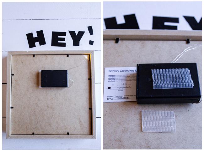 DIY Lightbox -Ribba- Lichterkette anbringen mit Klett