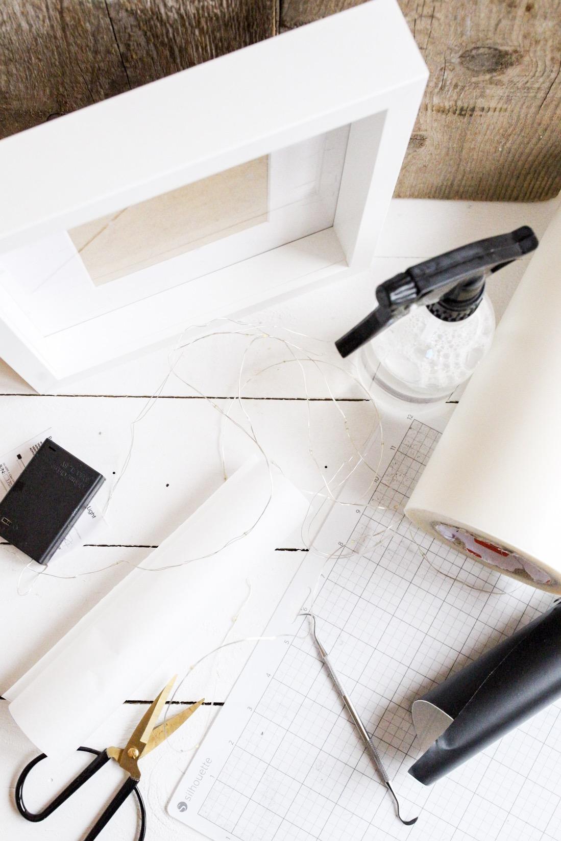DIY Lightbox mit dem Plotter Materialübersicht